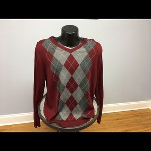 APT 9 XL LS Solid Red V-Neck Pre-Owned Sweater